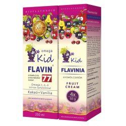 Flavin77 Omega Kid szirup 250ml+Flavinia Kid gyümölcskrém 4x50g (pink)