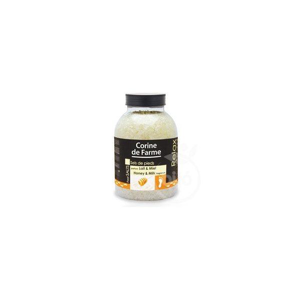 Corine De farm fürdősó relax tej-méz illattal 1300 g