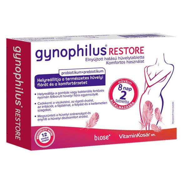 Gynophilus restore elnyújtott hatású hüvelytabletta 2 db