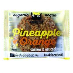 Kookie cat bio vegán gluténmentes kesudiós zabkeksz, ananász-narancs 50 g