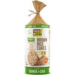 Rice Up barna rizses puffasztott szelet chia mag quinoa 120 g
