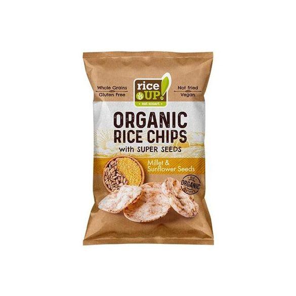 Rice Up bio köles & napraforgó chips 25 g