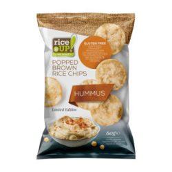 Rice Up barna rizs chips humusz ízű 60 g