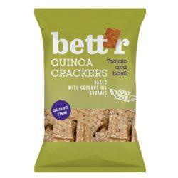 Bettr bio vegán gluténmentes quinoa kréker bazsalikom&paradicsom 100 g