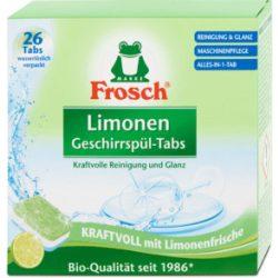 Frosch mosogatógép tabletta zöldcitrom 26 db