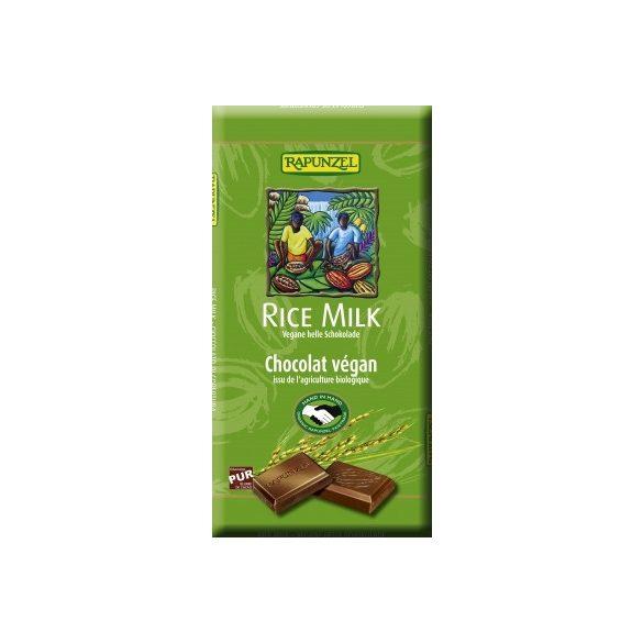 Rapunzel bio rizsitalos csokoládé vegán 100 g
