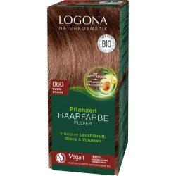 Logona bio növényi hajfesték por mogyoróbarna 100 g