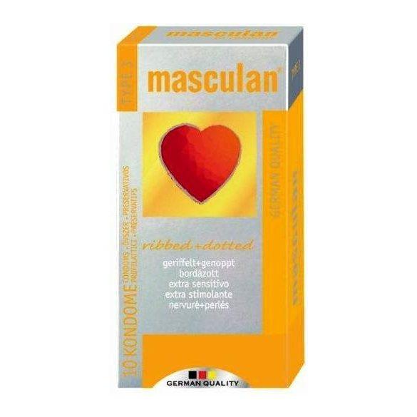 Óvszer masculan 3-as bordázott 10 db