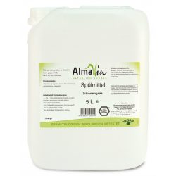 AlmaWin Kézi Mosogatószer koncentrátum citromfűvel 5 liter