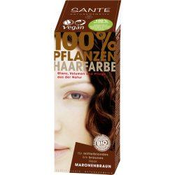 Sante Növényi hajfesték por – Gesztenyebarna 100g