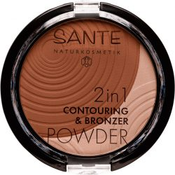 Sante 2in1 Kontúr & Bronzosító Púder 02 medium-dark
