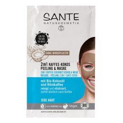 Sante bio 2 az 1-ben kávés kókuszos radír és maszk 8 ml
