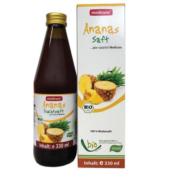 Medicura Ananász 100 százalékos Bio gyümölcslé 330ml