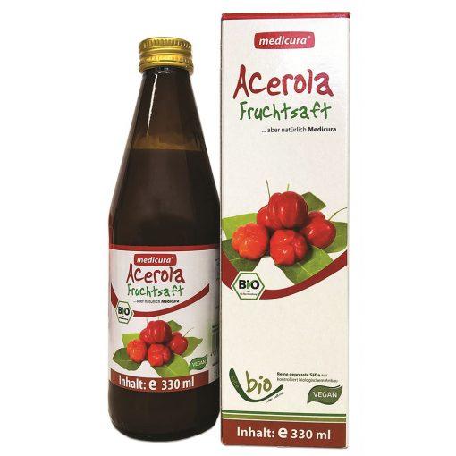 Medicura Acerola 100 százalékos Bio gyümölcslé 330ml