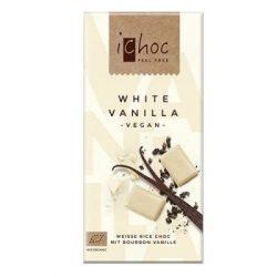 Ichoc bio fehércsokoládé rizsitallal 80 g
