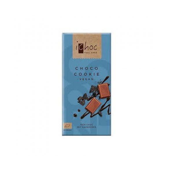 Ichoc bio csokis kekszes csokoládé (rizstejjel) 80 g