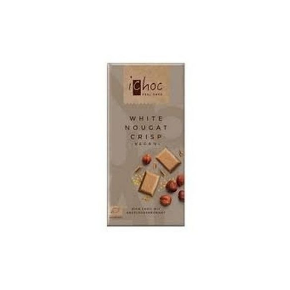 Ichoc bio nugátos fehércsokoládé rizsitallal 80 g