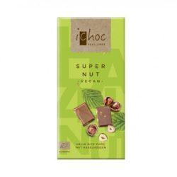 Ichoc bio szuper mogyorós csokoládé rizsitallal 80 g