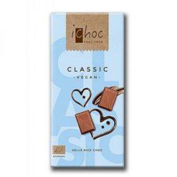 Ichoc bio classic tejcsokoládé rizsitallal 80 g