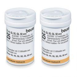 Beurer Tesztcsík GL 42/43 (2x25) vércukorszintmérő