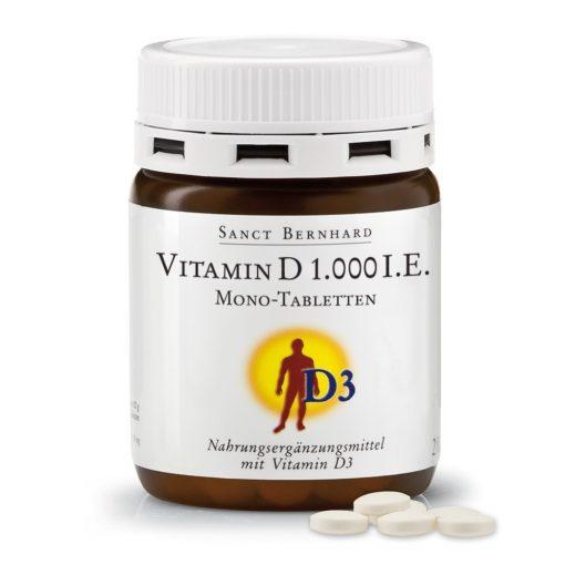 D-vitamin 1000 NE S.Bernhard 250 tabletta