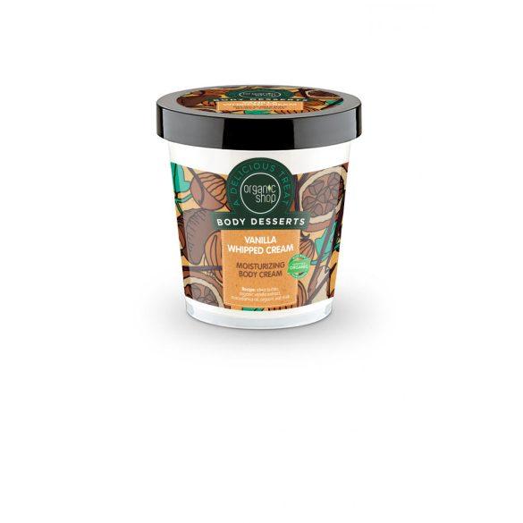 Organic Shop bio vaníliahab hidratáló testápoló 450 ml