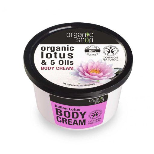 Organic Shop bio indiai lótusz testápoló krém 250 ml