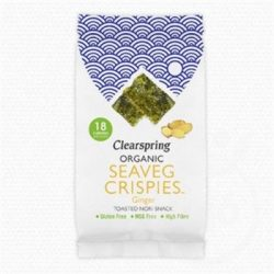 Clearspring bio ropogós tengeri alga snack gyömbéres 4 g