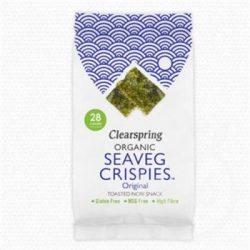 Clearspring bio ropogós tengeri alga snack eredeti 4 g