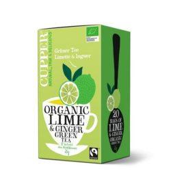 Cupper bio lime&ginger lime-gyömbér zöld tea 20 db 35 g