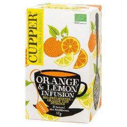 Cupper bio orange&lemon narancs-citrom gyümölcstea 20 db 50 g