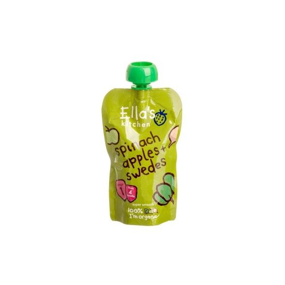 Ellas Kitchen bio spenót alma karórépa bébiétel 120 g
