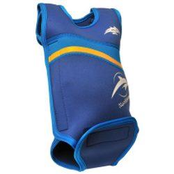 Konfidence Babywarma™ babauszóruha BLUE Teljesen szétnyitható baba úszóruha, ami körbeöleli és melegen tartja a kisbabát