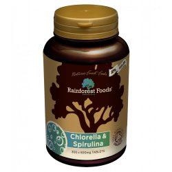 Rainforest foods bio chlorella és spirulina tabletta 500mg 300 db