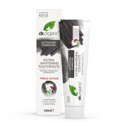 Dr.organic extra fehérítő fogkrém aktív szénnel 100 ml