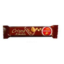 Canderel crispy almonds tejcsokoládé szelet gabona-mandula 27 g