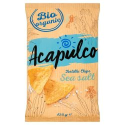 Acapulco bio tortilla chips natúr 125 g