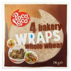 Poco Loco teljes kiőrlésű lágy tortilla 245 g