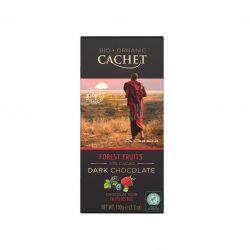 Cachet bio táblás étcsokoládé 57% erdei gyümölcs 100 g