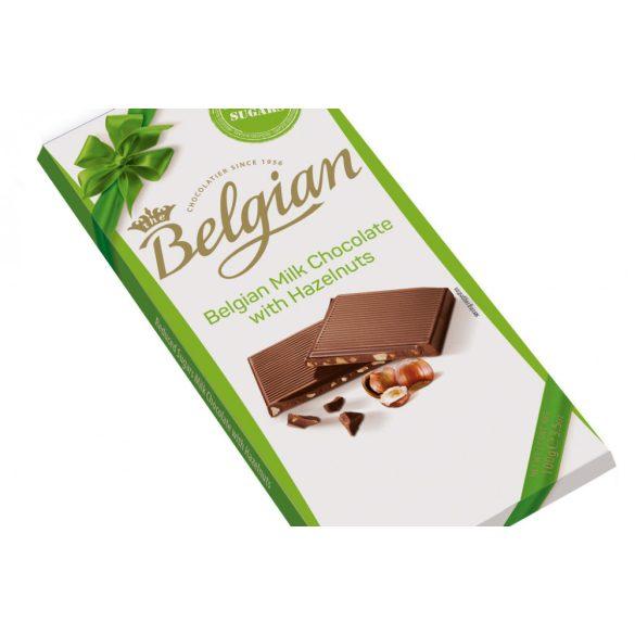 Belgian Tejcsokoládé Mogyorós Édesítősz. 100 g