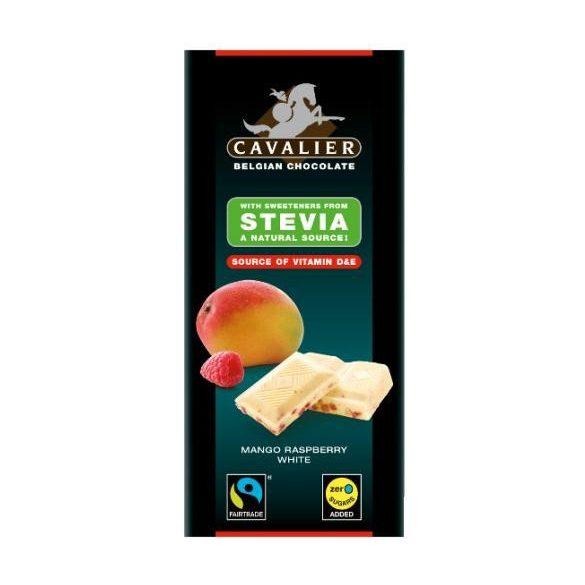 Cavalier fehércsokoládé stevia mangó-málna 85 g