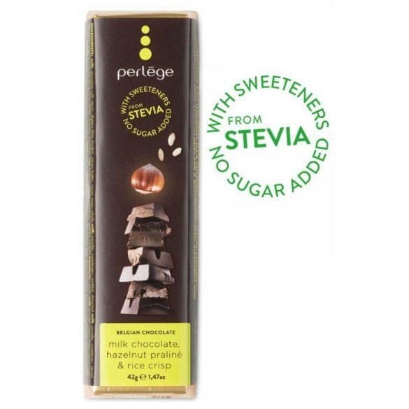 Perlége Steviás Tejcs. Mogyoró&Rizs  42 g