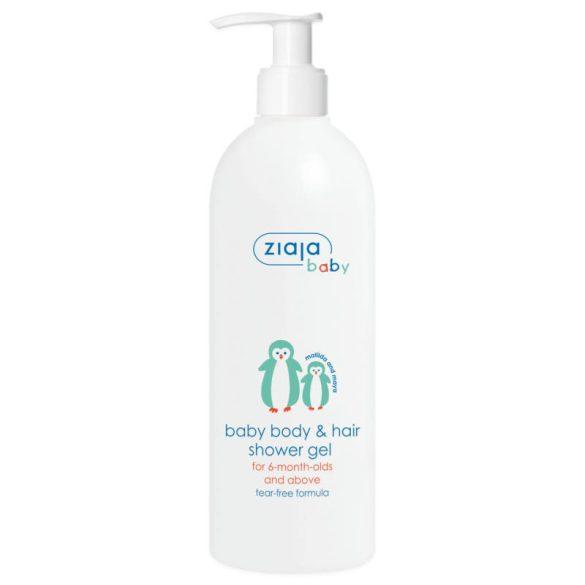 Ziaja baba és gyermek hipoallergén pumpás tusfürdő test haj 400 ml