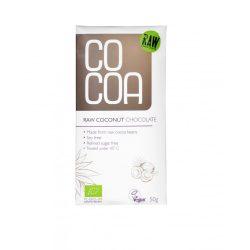 Cocoa bio nyers csokoládé kókuszos 50 g