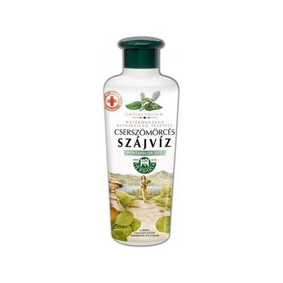 Herbária cserszömörcés szájvíz mentolos 250 ml