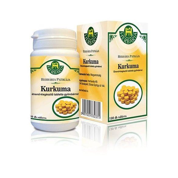 Herbária kurkuma-gyömbér tabletta 120 db