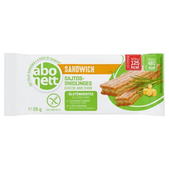 Abonett sandwich sajtos-snidlinges 26 g