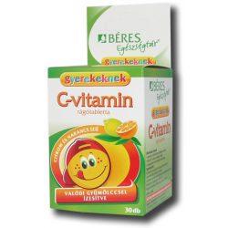 Béres c-vitamin rágótabletta gyerekeknek citrom-narancs 30 db