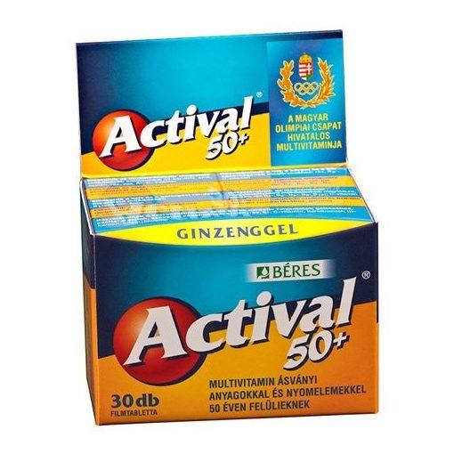 BÉRES ACTIVAL 50+ FILMTABLETTA 30 DB 30 db