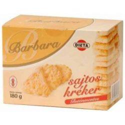 Barbara gluténmentes kréker sajtos 180 g